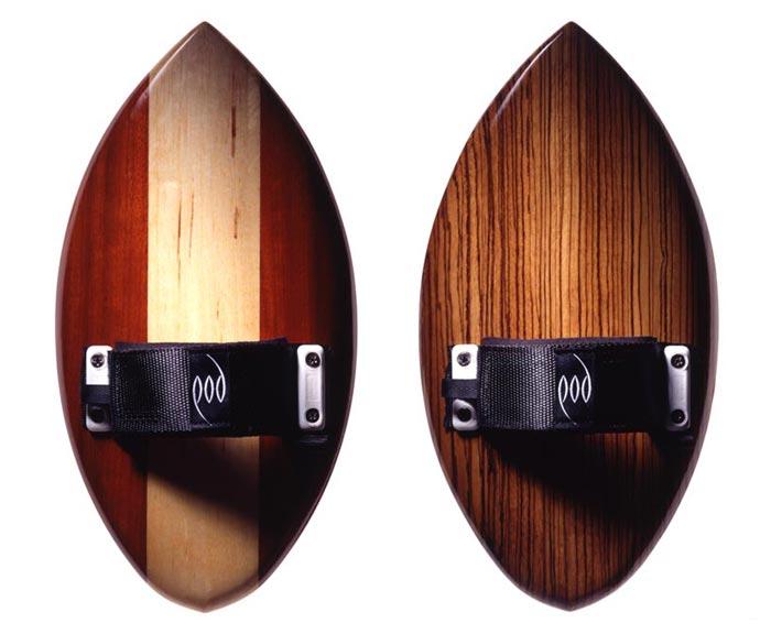 Paduk and Silver Ash POD Handboard and Zebrano Bodysurfing POD Handboard - Circa 1993